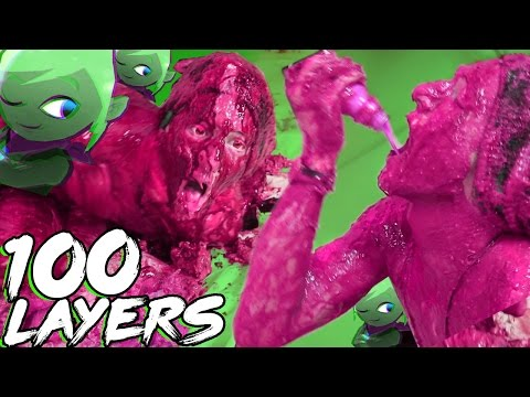 100 LAYERS OF SLIME! MY RESPONSE TO LEAFY IS HERE!