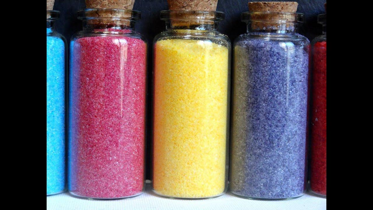 Azúcar de colores | Como colorear azúcar | Decoración para postres