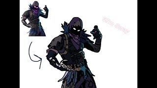 Fortnite Skin(Raven) - Speed Draw