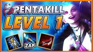 *PENTAKILL LEVEL 1* 2 MINUTES IN I GET A PENTAKILL (60 KILLS IN 20 MINS) - BunnyFuFuu URF