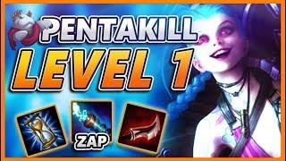 *PENTAKILL LEVEL 1* 2 MINUTES IN I GET A PENTAKILL (60 KILLS IN 20 MINS) - BunnyFuFuu URF