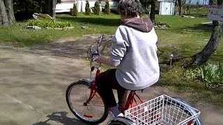 Senior on Bicycle