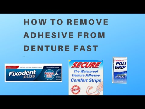 how to remove denture adhesive from your gums video