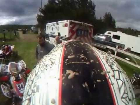 Allen-Michael Daly Mazooka Racing Hurricane Hills Mx Quad A B Holeshot crash