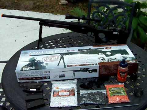 Mauser SR Airsoft Sniper Rifle For Sale On Ebay ( 442 fps, Cybergun, $149.99 )