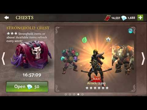 DH5 50 Minion Chest Opening Getting Assassin Dungeon Hunter 5