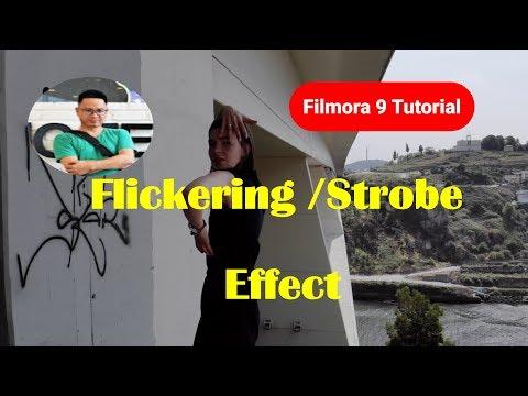 FILMORA 9 TUTORIAL| FLICKERING STROBE EFFECT