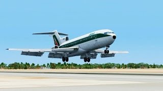 Alitalia Boeing 727 Landing @ Djerba ( Outside ) ( HD )