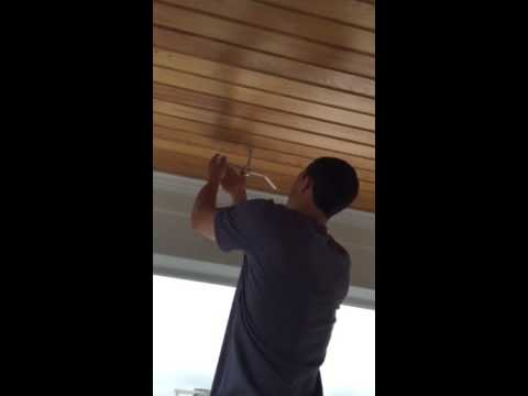 Securing Eye Hooks Into Ceiling For Hanging Your Swing