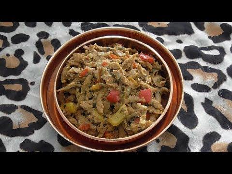 Sojastrips in Shoarma kruiden & Soja stukjes in Kerrie (vegetarisch)