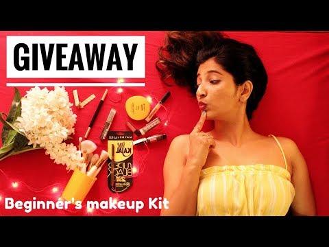[CLOSED]🔥GIVEAWAY🔥|Beginner's Makeup Kit|Natural To Glam|Akanksha Dubey