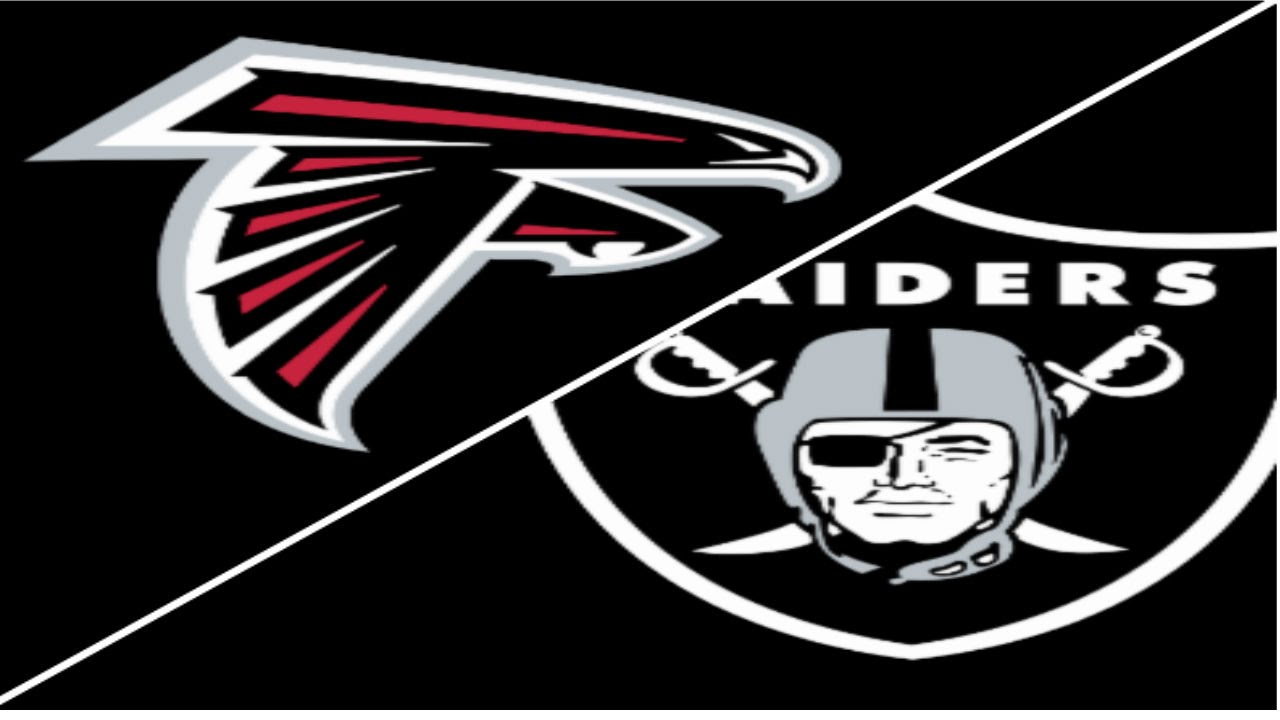 Image result for Atlanta Falcons vs. Oakland Raiders
