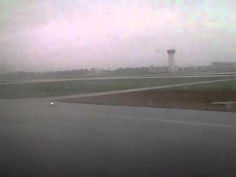 rainy day landing cochin airport
