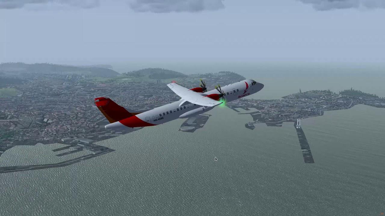 Flightgear - ATR 72-500 Spain north coast flight LECO - LESO