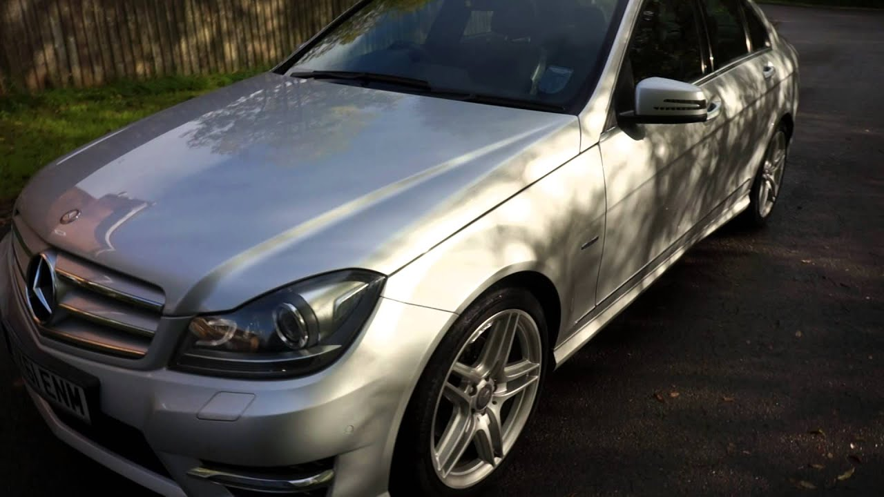 2011 61 mercedes c220 cdi amg sport edition 125 saloon silver mercland nuneaton youtube. Black Bedroom Furniture Sets. Home Design Ideas