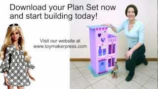 Wood Toy Plans - Easy To Build Doll House For Barbie