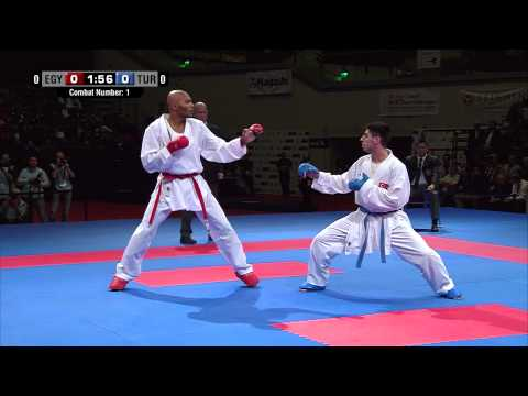 Male Team Kumite TURKEY vs EGYPT (1/5). 2014 World Karate Championships. Bronze Medal