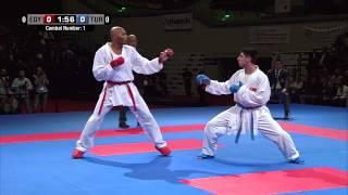 Male Team Kumite TURKEY vs EGYPT (1/5). 2014 World Karate Championships. Bronze Medal