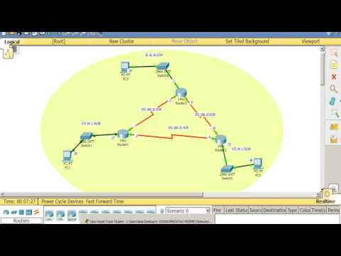 Tutorial - How to configure RIP using Cisco Packet Tracer (Routing Information Protocol) 2017