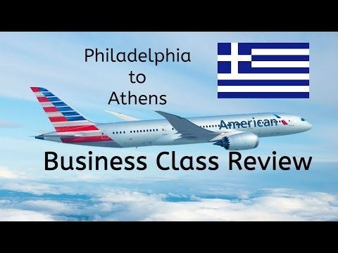 American Airlines Business Class Review - A330 PHL To ATH