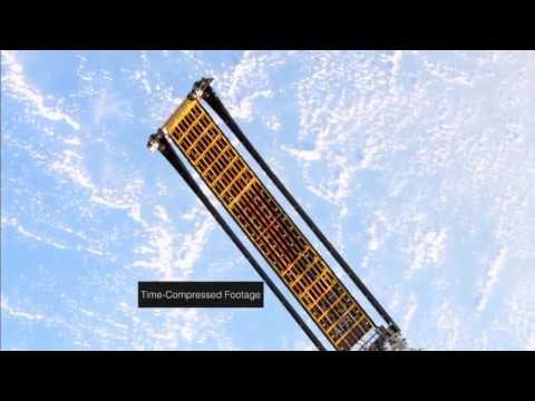 Roll-Out Solar Array (ROSA) - flexible material containing photovoltaic cells - ISS experiment
