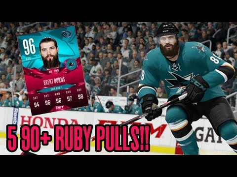 5 90+ RUBY PULLS! INSANE COMPETITIVE SEASONS REWARD | NHL 18 HUT Pack Opening  - ULTIMATE PACKS