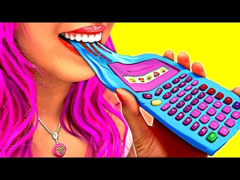 WOW! Cool Edible School Supplies & Funny School Pranks!!! (CC Available)