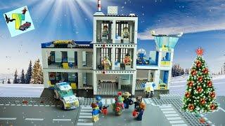 Как встречают Новый Год сотрудники Полиции. LEGO City Полицейский участок. Полиция ищет преступника