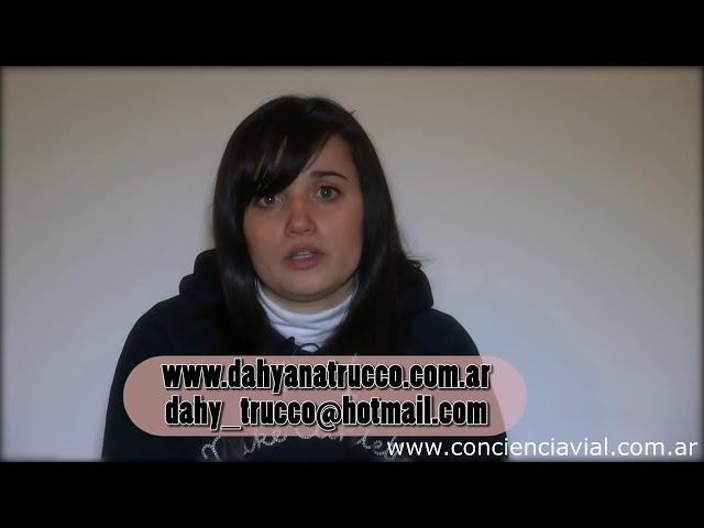 2013 - Testimonios - Dahyanna Trucco cuenta las consecuencias que sufrió tras un accidente en moto