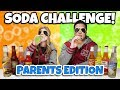 13 FLAVOR SODA CHALLENGE: PARENTS EDITION!!! Bird Box Blindfold Burp Contest!
