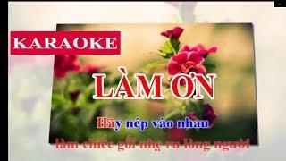 Karaoke LÀM ƠN - TRẦN TRUNG ĐỨC   Hát Karaoke Online