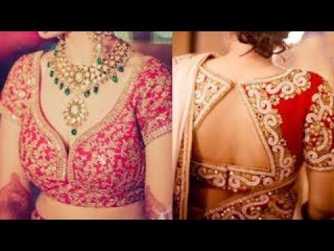 Latest Bridal Lehenga Blouse Design Blouse Front And Back Design Ideas Blouse Stitching Ideas Youtube