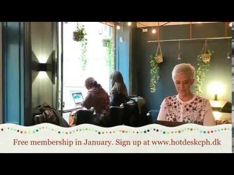 Free membership af Copenhagen Hot Desk Cafe in January!