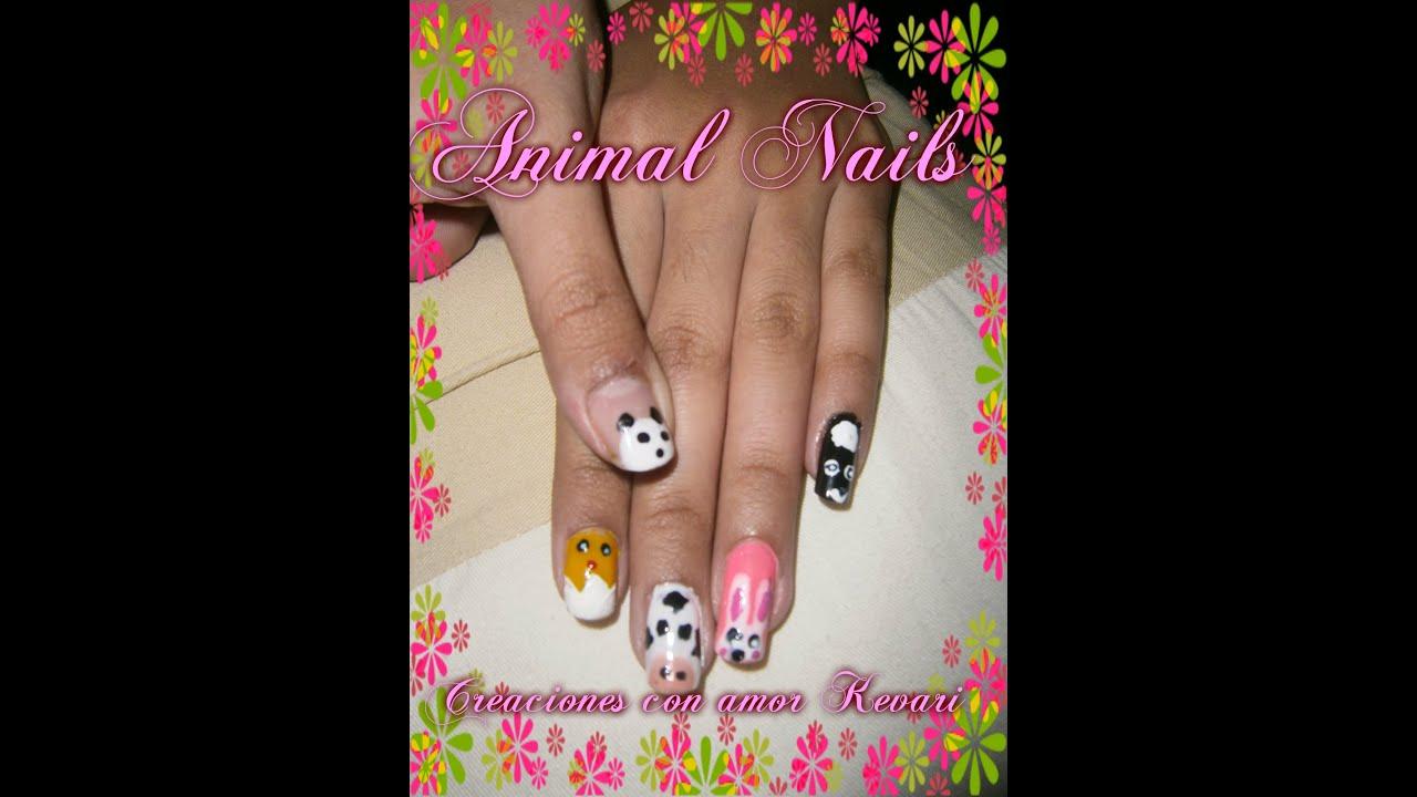 Uñas De Animalitos Cute Animal Nails