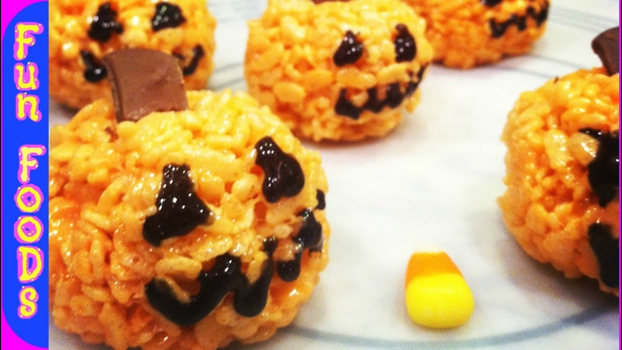 pumpkin rice crispy treats halloween treats
