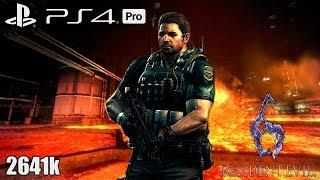 Resident Evil 6 PS4 Pro NO MERCY 2641k Liquid Fire Chris 1080p