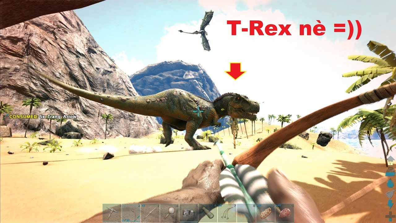 ARK: Thieves Island #3 - Tự tay bắt được khủng long Bạo chúa T-Rex =))