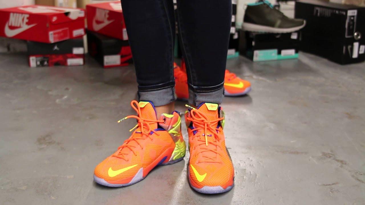 buy online 9646b 343cd Nike LeBron 12 Six Meridians Hyper Crimson Volt Cool Grey