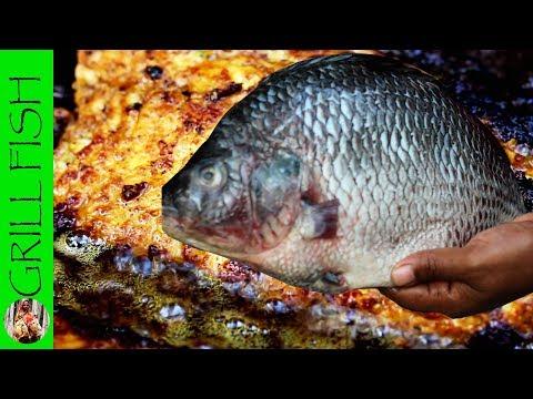Village Style Big Fish Grill Recipe | Delicious Grilled Fish Recipe