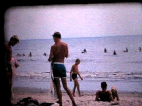 Santa Monica Beach summer of 1963 california 8mm home movie