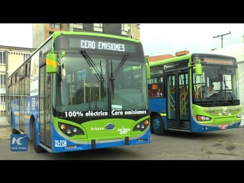 Chinese hybrid, electric buses tailored for public transit of Bogota
