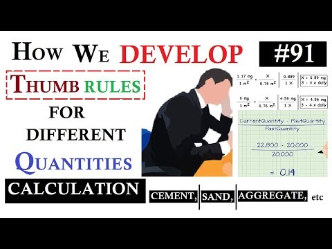 How we Develop Thumb rules for the calculation of different Quantities of the buildings.