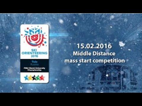 Middle distance mass start competition - 1st World Ski Orienteering University Championship 2016