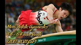 Men's Artistic Gymnastics 5.6 - 6.4 value Vaults (2017-2021 CoP)