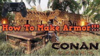 Conan exiles building a armorer's bench