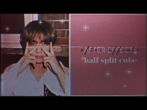 half cube split tutorial | after effects