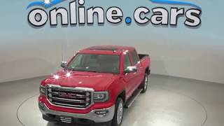 A99078TA Used 2016 GMC Sierra 1500 SLT 4WD Red Crew Cab Test Drive, Review, For Sale
