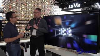 LG Super UHD TV with Nano Cell Display at CES 2018