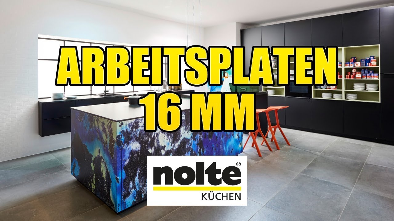 nolte k chen arbeitsplatten 16 mm montagevideo youtube. Black Bedroom Furniture Sets. Home Design Ideas