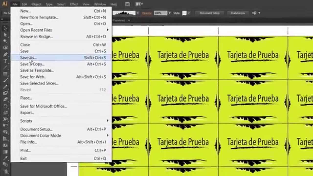 02 Como Crear Planillas en Adobe Illustrator CS6. - YouTube